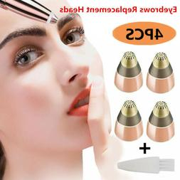 4 PCS Replacement Heads For Flawless Finishing Touch Brows E