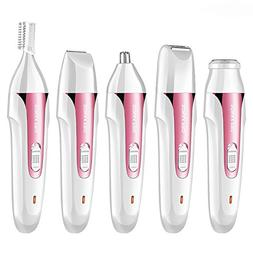 Alician 5 in 1 Electric Epilator Flawless Facial Leg Eyebrow