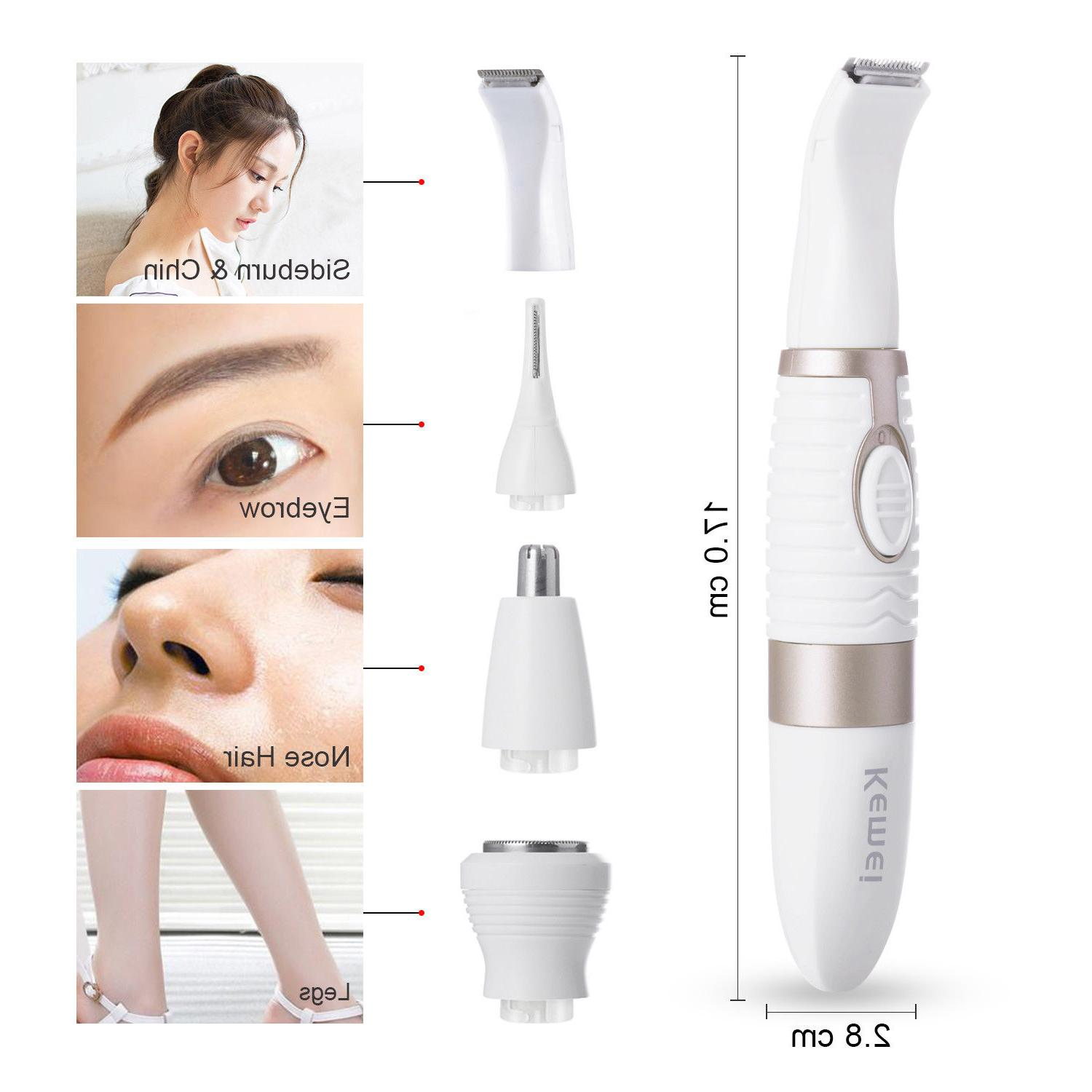 4IN1 Women Eyebrow Nose Trimmer Clipper Shaver