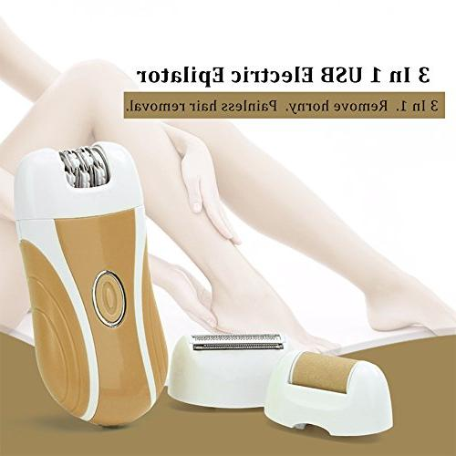 Cordless Lady Electric Hair Removal, Upper Lip Chin Underarms Full Body Bikini Trimmer