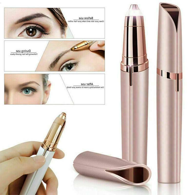 Electric Trimmer Hair Brows Remover LED Light