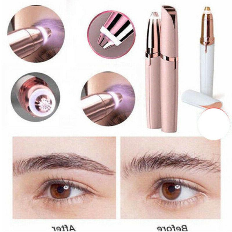 Electric Remover Eyebrow Trimmer Brows Facial Painless Epilator