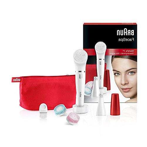 Braun FaceSpa Miniature Removal, Cleansing Beauty Pouch and