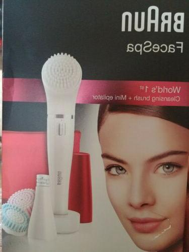 facespa women s facial epilator and cleansing