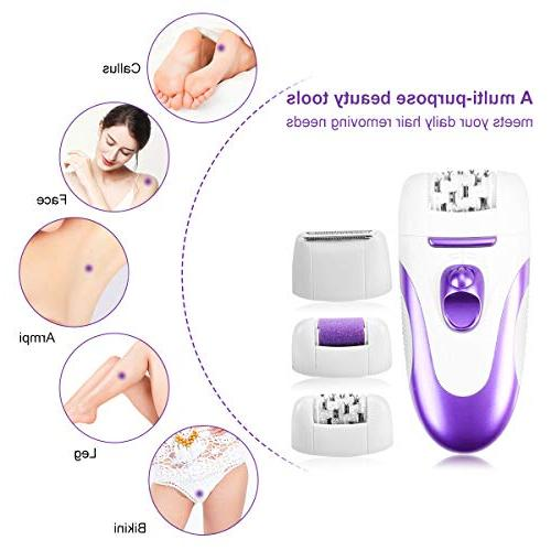Facial For Women, Hair Remover With Interchangeable Heads, USB Hair And Callus For