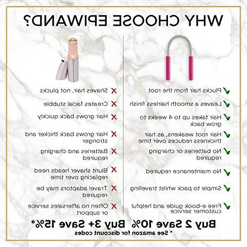 Epiwand Facial Hair Remover Spring Threading Tool Coil Removes Chin, Neck, Mustache & Upper Quickly - Instructions & Gift Box