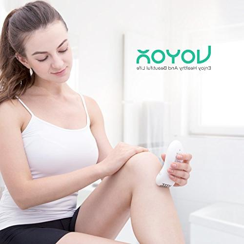 VOYOR Women Facial Epilator Razor Cordless 3-in-1 Hair Remover Rechargeable Shaver