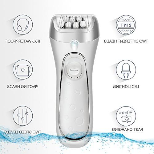 for Facial F230 Rechargeable Razor and Cordless Flawless Hair Remover Lady Shaver Wet and