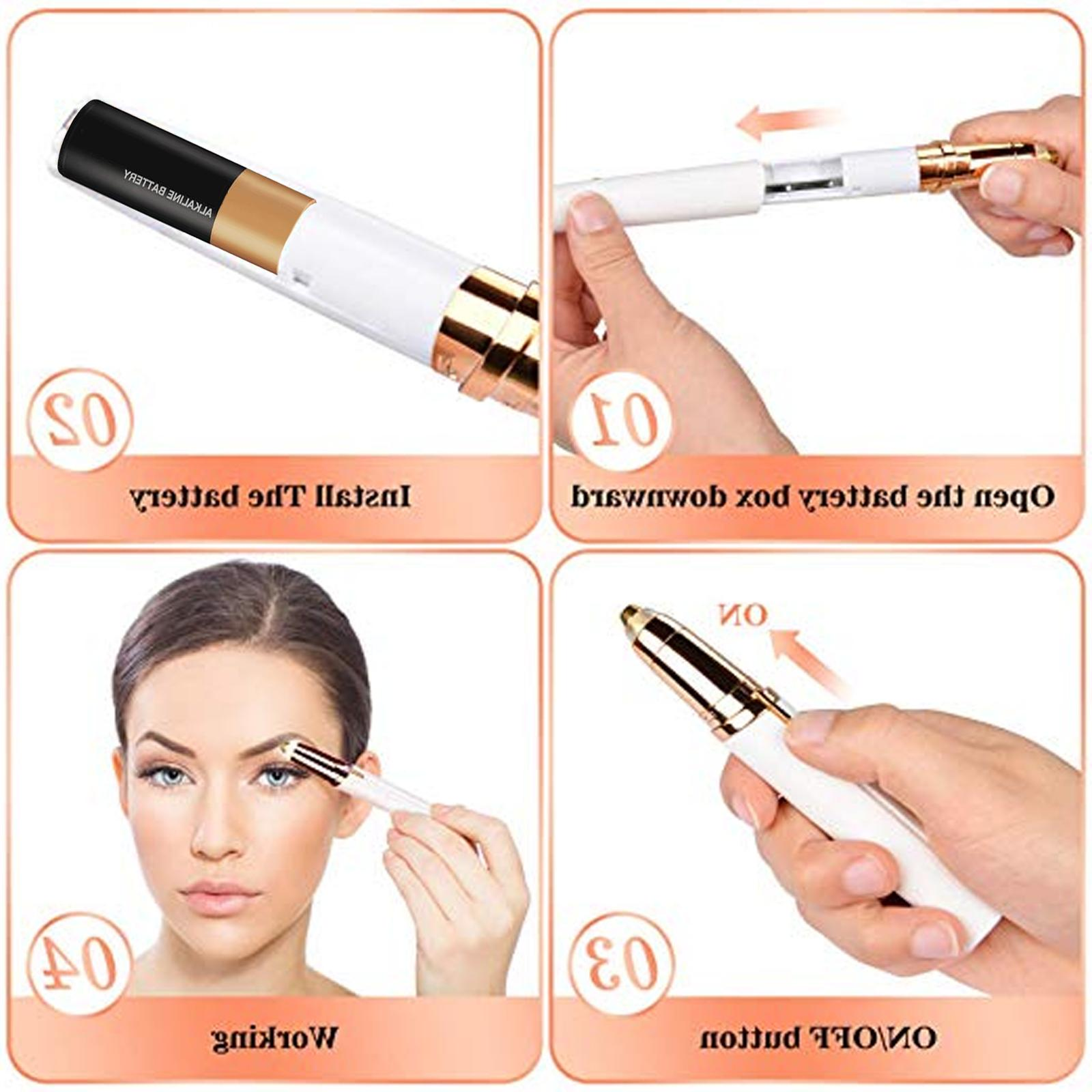 Women's Electric Eyebrow Remover LED Light