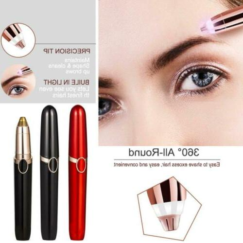 Womens Face Eyebrow Trimmer Razor Facial Epilator