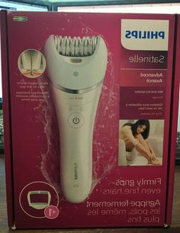Philips Satinelle Advanced Wet Dry Cordless Epilator, White